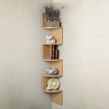 Space Saving 5 Layer Corner Shelf