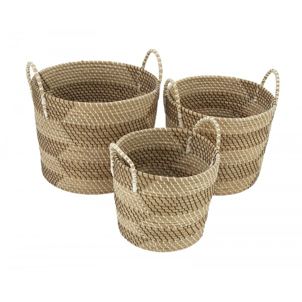 Beautiful Basket Set made from Grass from the Sea