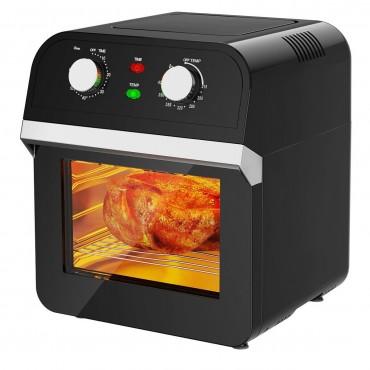 12.7QT 1600W Rotisserie Dehydrator Convection Air Fryer Oven