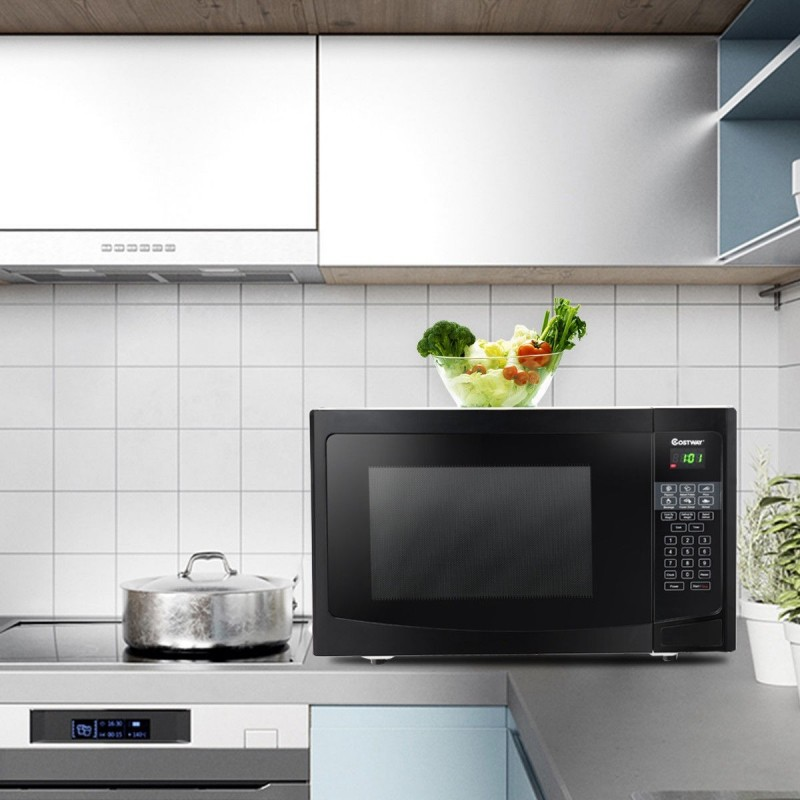 1.1 cu ft Programmable Microwave Oven 1000W LED Display