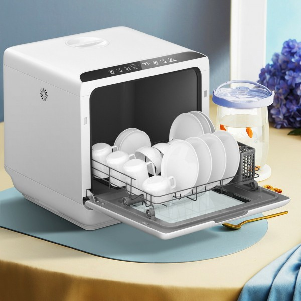 Air Drying Countertop Dishwasher with 1.3-Gallon Built-in Water Tank
