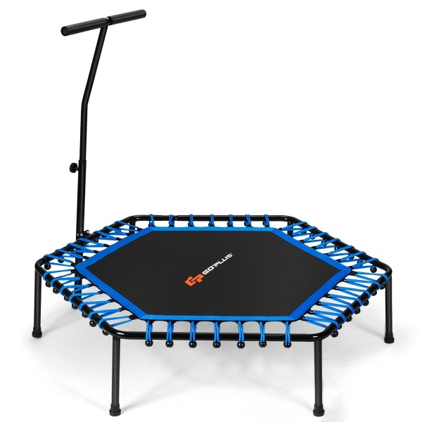 "51"" Mini Fitness Trampoline with Adjustable Bar"