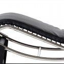 Adjustable stainless steel leather chaise lounge chair