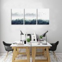 Abstract Canvas Wall Art Misty Trees Artwork Canvas Prints Forest Wall Paintings