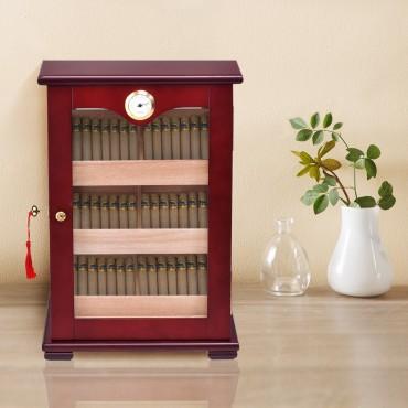 150 Cigars Display Humidor Storage Cabinet with Hygrometer