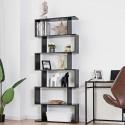 6-Tier S-Shaped Style Storage Bookshelf