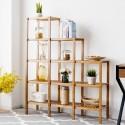 Multifunctional Bamboo Shelf Display Organizer