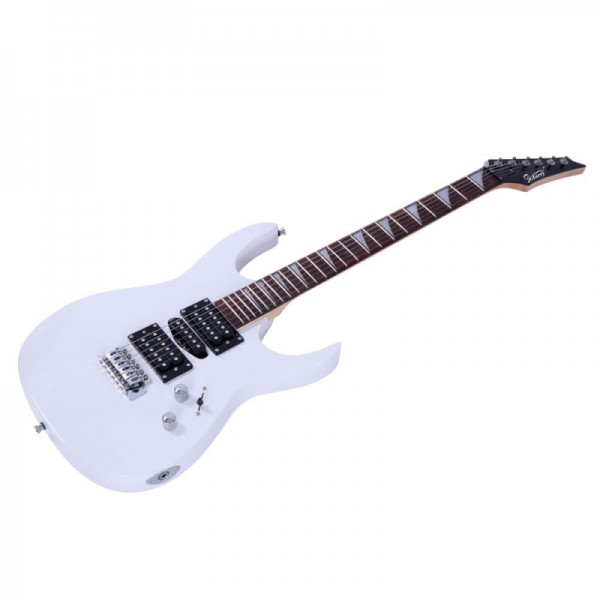 Glarry 170 Type Electric Guitar with Electric Guitar Amplifier White
