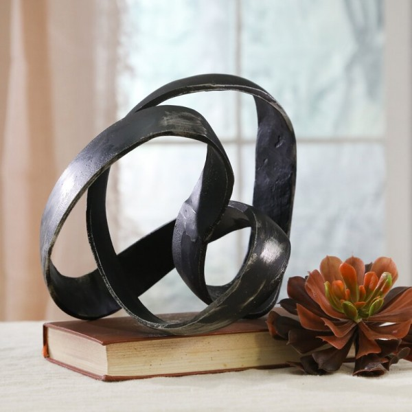 Black  Knot Sculpture made from Aluminum